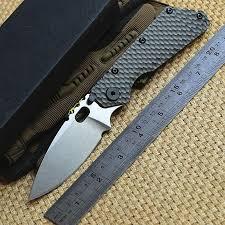 <b>ST</b> outdoor gear <b>SMF</b> Folder <b>Titanium</b> handle D2 blade Copper w...
