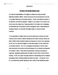 essay on a leader the role of the english subject leader   university education and  page