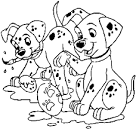 Раскраски для детей щенята