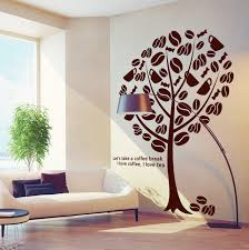 Small Picture Aliexpresscom Buy Coffee Shop Vinyl Wall Decal Coffee Tree