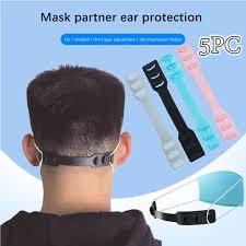 38# Third Gear <b>Adjustable Anti slip Mask Ear</b> Grips Extension Hook ...