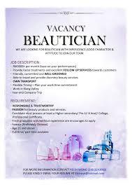beautician job description inspirenow beautician job description
