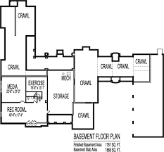 Square Foot House Floor Plans Large Six Bedroom Single Storyluxury one story home plans gym Los Angeles San Francisco California Oakland San Jose San Diego