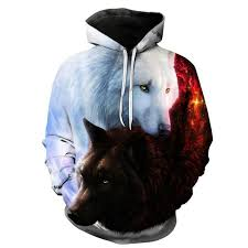 Cool 3d Wolf <b>Print</b> Hoodies <b>Men Women</b> Autumn Winter Fashion ...