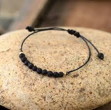 <b>Natural Lava Stone</b> Boho Bracelet – Free Spirit Shop