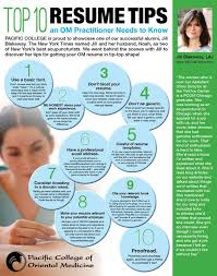 top 10 resume tips an om practitioner needs to know by pcom alumna jill tips resume