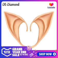 DE <b>1 Pair Latex Elf</b> Ears Cosplay Party Props Gift Halloween ...