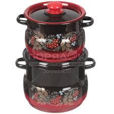 <b>Набор эмалированной посуды Сибирские</b> товары Рябинка 10 ...