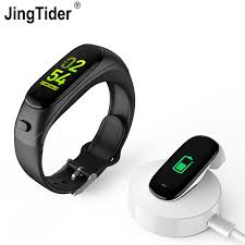 <b>V08S Color Screen Smart</b> Bracelet Bluetooth Headset 2 in 1 ...