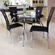 metal dining room chairs chrome: glass dining table and chairs round org black cheap upholstered dining room chairs