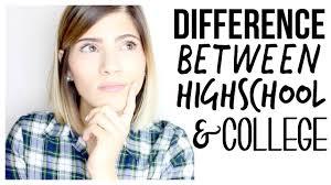high school vs college high school vs college