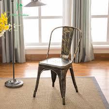 Louis Fashion Dining Chair <b>Iron Art</b> RETRO Backrest Simple ...