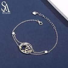 <b>SA SILVERAGE 925</b> Sterling <b>Silver</b> Bracelets Bangles for Women ...
