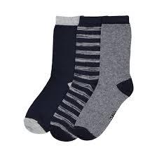 <b>Комплект из 3 пар</b> носков, размеры 19/22-39/42 темно-синий ...
