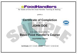 efoodhandlers training and testing   homecertificate