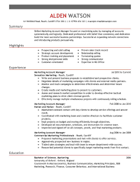 marketing resume examples marketing sample resumes livecareer account manager resume sample