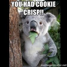You had cookie crisp!! - Koala can't believe it | Meme Generator via Relatably.com