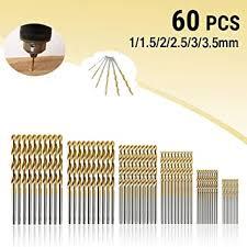 MOHOO HSS Shank Drill Bit Set <b>60PCS</b> 1/1.5/<b>2</b>/2.5/3/3.5mm High ...