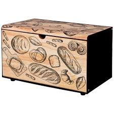 <b>Хлебница agness</b> металлическая с деревянной крышкой, 35.5 ...
