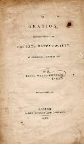 ralph waldo emerson  the american scholar  genius the text begins with an introduction paragraphs   in which emerson explains that his intent is to explore the scholar as one function of the whole human