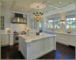 Small Picture Dark Tiles Light Cupboards Kitchen With Dark Wood Floors And