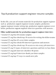 Top   production support engineer resume samples