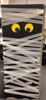decorated my cubicle today monster door halloween decoration mummy charming desk decorating ideas work halloween