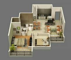 images about dream home on Pinterest   Small House Plans     bedroom apartment floor plans