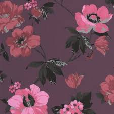 Tapety Superfresco Easy <b>Pink Flower</b> Wall Floral Wallpaper ...