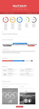 web designer resume in html5 on behance