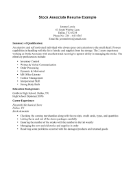 job responsibilities of a s associate for a resume