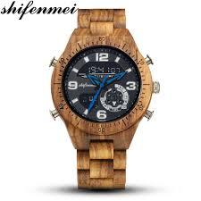 <b>Shifenmei Wood</b> Watches <b>Men</b> 2019 Fashion Quartz <b>Wooden</b> Top ...