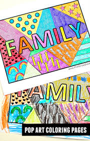 Small Picture Family Pop Art Coloring Page Pink Stripey Socks