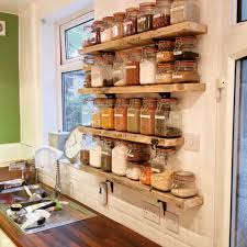 Great Kitchen Storage Kilner Jar Storage Shelves From Old Scaffold Boards And Cast Iron