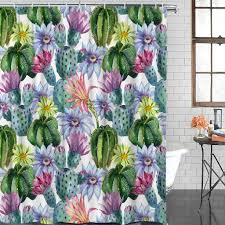 <b>Modern</b> Printed Cactus Flower Mildew <b>Waterproof Polyester</b> ...