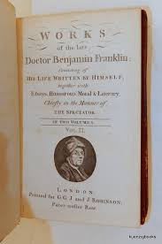 works of the late doctor benjamin franklin   consisting of his    view full size image