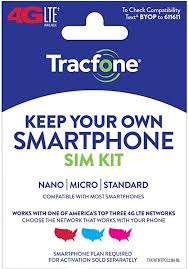 Tracfone Keep Your Own Phone 3-in-1 Prepaid SIM Kit - Amazon.com