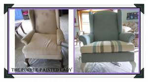 Using Chalk Paint® to Paint Your <b>Couch</b> or Wing Back <b>Chair</b> (<b>Fabric</b> ...