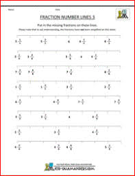 Fraction Number Line Sheetsfree printable fraction worksheets fraction number lines 3