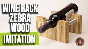 How to build a <b>Wine Rack</b>   Zebrano <b>Wood</b> Imitation   DIY   Interio ...