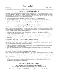 resume examples sample resume electronics technician sample of resume examples digital electronics technician resume profile summary and professsional experience as digital electronics