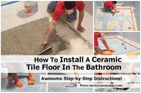 how to lay tiles in a bathroom