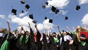 ranked the salary bump you can expect from a graduate degree by medical university graduates throw up mortarboards during the celebration of their graduation in minsk
