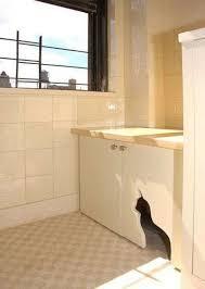 cabinet cutout cat litter cabinet diy