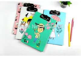 free shipping 4pcslot new fashion a5 leather cl a5 clipboard clip boards