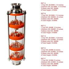 new 3 inch od91mm 99 9 red copper bubble plates distillation column with 4 section for distillation column