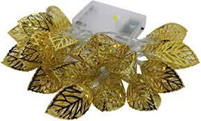 Party Xmas Hollow Metal <b>Gold Leaf</b> String Light 20 <b>LED</b> Strip Lamp