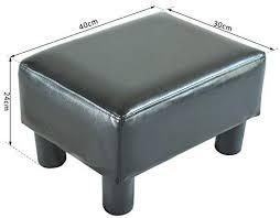 HOMCOM <b>PU Leather</b> Footstool Foot Rest <b>Small</b> Seat Foot Rest ...