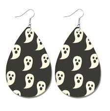 2020 <b>Halloween</b> Leather Earrings PU <b>Faux</b> Leather Light Weight ...