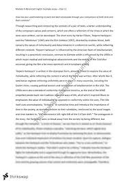 advanced english module a example essay  yearhsc  english  advanced english module a example essay